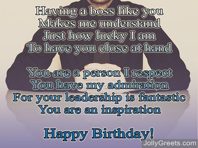 Birthday Poems For Boss