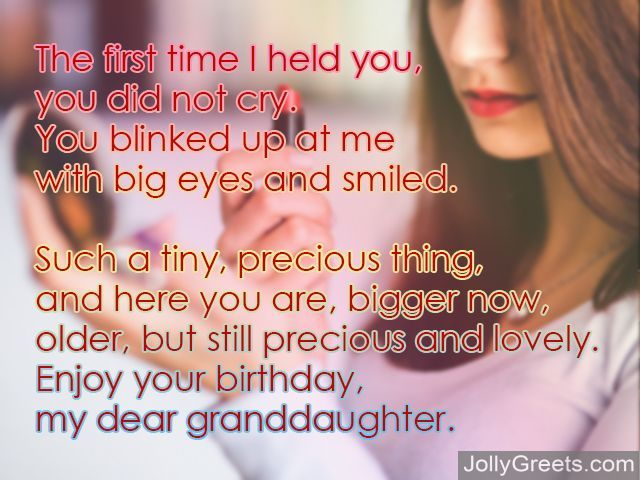 Birthday Poems For Granddaughter