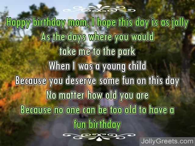 Birthday Poems For Mom