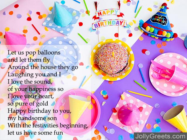 Superb Birthday Poems For Son Personalised Birthday Cards Veneteletsinfo