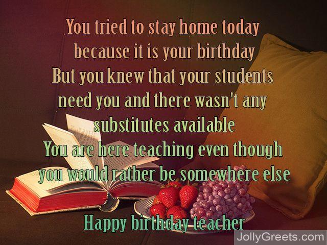 Birthday Cake For English Teacher