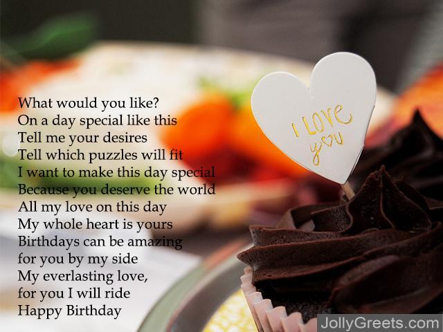 birthday i love you poems