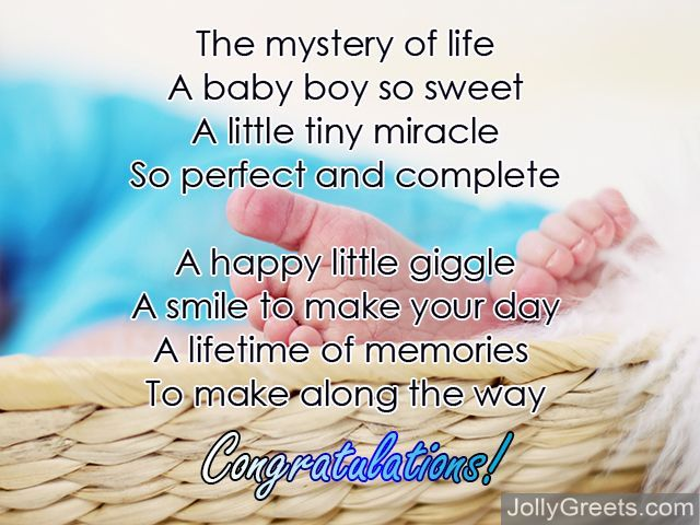 Congratulations For Baby Boy Poems For Newborn Baby Boy
