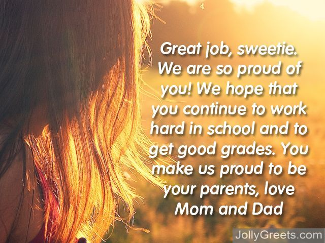 Graduation Messages From Parents