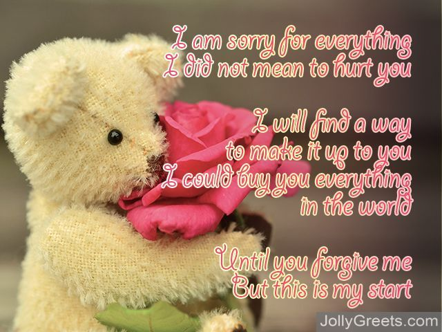 I Am Sorry Poems For Girlfriend Apology Poems For Her