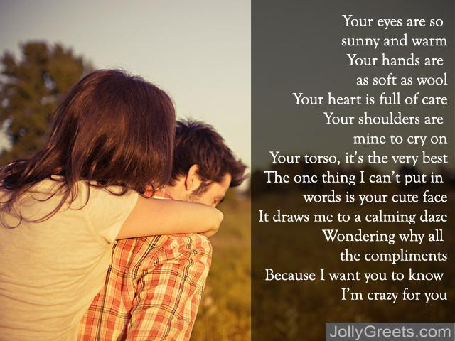 your mine poems for him