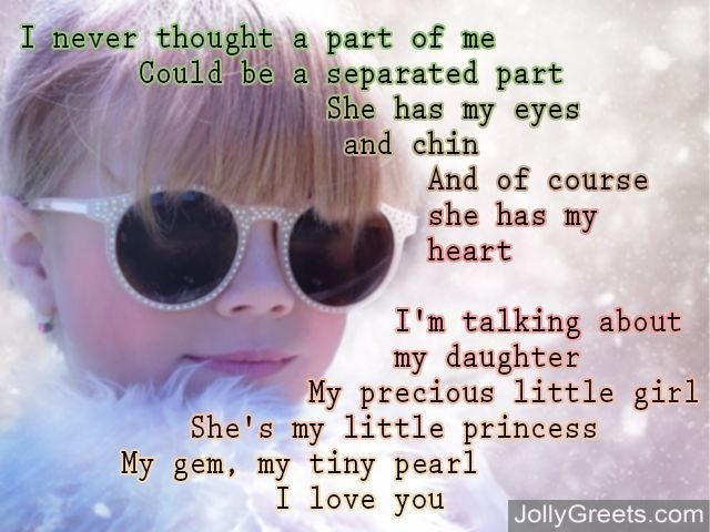 I Love You Poems For Daughter